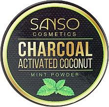 Parfüm, Parfüméria, kozmetikum Fogfehérítő pór, menta - Sanso Cosmetics Charcoal Activated Coconut Mint Powder
