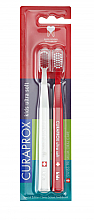 Parfüm, Parfüméria, kozmetikum Ultralágy fogkefe szett, piros, fehér - Curaprox Kids Swiss School Toothbrush