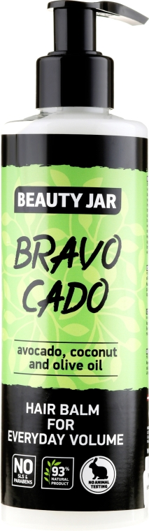 "Dúsító hajbalzsam ""Bravocado"" - Beauty Jar Hair Balm For Everyday Volume"