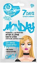 """Parfüm, Parfüméria, kozmetikum Hidrogél szemtapasz """"Dinamikus hétfő"""" kaolinnal és rizs kivonattal - 7 Days Dynamic Monday Hydrogel Eye Patches"""