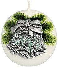 """Parfüm, Parfüméria, kozmetikum Dekoratív gyertya """"Gömb. Karácsonyi csengő"""", 8 cm - Artman Christmas Bell Candle Ball"""