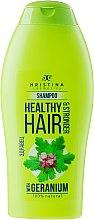 Parfüm, Parfüméria, kozmetikum Sampon - Hristina Cosmetics Healthy Hair & Stronger With Geranium Shampoo