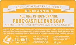 """Parfüm, Parfüméria, kozmetikum Szappan """"Citrus és narancs"""" - Dr. Bronner's Pure Castile Bar Soap Citrus & Orange"""