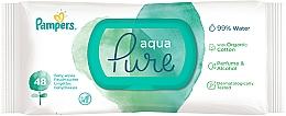 Parfüm, Parfüméria, kozmetikum Gyerek nedves törlőkendő, 48 db - Pampers Aqua Pure Wipes