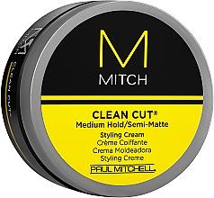 Parfüm, Parfüméria, kozmetikum Közepesen fixáló, enyhén mattító krém - Paul Mitchell Mitch Clean Cut Styling Cream