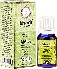 "Parfüm, Parfüméria, kozmetikum Ayurvédikus hajolaj ""Amla"" - Khadi Hair Oil (mini)"