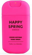 "Parfüm, Parfüméria, kozmetikum Kézfertőtlenítő spray ""Hibiszkusz"" - HiSkin Antibac Hand Spray Happy Spring"