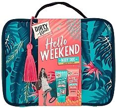 Parfüm, Parfüméria, kozmetikum Szett - Dirty Works Hello Weekend Pamperbag (b/wash/200ml + b/butter/200ml + bag)