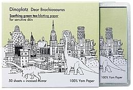 Parfüm, Parfüméria, kozmetikum Mattító törlőkendő - Too Cool For School Dinoplatz Dear Brachiosaurus Blotting Paper Green Tea