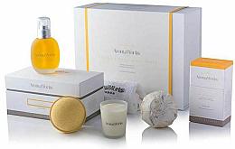 Parfüm, Parfüméria, kozmetikum Szett - AromaWorks Serenity Body Indulgence Gift Set (bath/bomb/2x250g + candle/75g + b/oil/100ml + flannel)