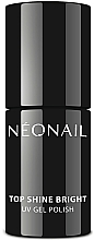 Parfüm, Parfüméria, kozmetikum Fedő gél lakk, fényes hatás - NeoNail Professional Top Shine Bright UV Gel Polish