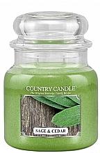 Parfüm, Parfüméria, kozmetikum Illatosított gyertya - Country Candle Sage and Cedar