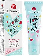 Parfüm, Parfüméria, kozmetikum Sárgabarack és vanília illatú emulzió arcra - Dermacol Love My Face Apricot & Vanilla Scent Face Cream