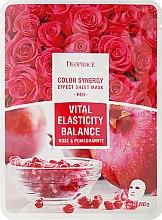 Parfüm, Parfüméria, kozmetikum Szövetmaszk gránátalma kivonattal és rózsaszirommal - Deoproce Color Synergy Effect Sheet Mask Red
