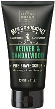 Parfüm, Parfüméria, kozmetikum Borotválkozás előtti hámlasztó - Scottish Fine Soaps Vetiver & Sandalwood Pre-shave Scrub