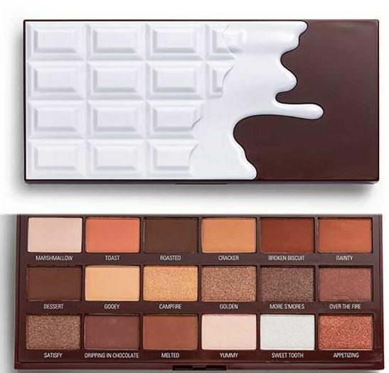 Szemhéjfesték paletta - I Heart Revolution Chocolate Eyeshadow Palette Chocolate Smores