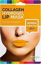 Parfüm, Parfüméria, kozmetikum Kollagén hidrogél ajakmaszk - Beauty Face Collagen Hydrogel Lip Mask Wrinkle Smooth Effect