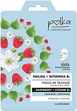 """Parfüm, Parfüméria, kozmetikum Anyagmaszk """"Málna és B3 vitamin"""" - Polka Raspberry And Vitamin B3 Facial Sheet Mask"""