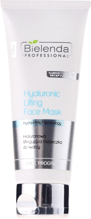 Arcmaszk-lifting hialuronsavval - Bielenda Professional Hydra-Hyal Injection Hyaluronic Lifting Face Mask