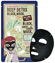Parfüm, Parfüméria, kozmetikum Detox arcmaszk - Dewytree Deep Detox Black Sheet Mask