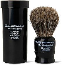 Parfüm, Parfüméria, kozmetikum Borotvapamacs, 8,25 cm, utazó tokkal - Taylor of Old Bond Street Shaving Brush Pure Badger