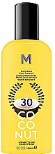Parfüm, Parfüméria, kozmetikum Napvédő krém sötét barnuláshoz - Mediterraneo Sun Coconut Sunscreen Dark Tanning SPF30