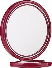 Parfüm, Parfüméria, kozmetikum Kétoldalas kozmetikai tükör, 18,5 cm, bordó, 9509 - Donegal Mirror