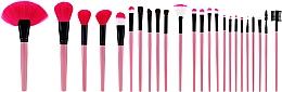 Parfüm, Parfüméria, kozmetikum Professzionális sminkecset szett 24 db, rózsaszín - Tools For Beauty