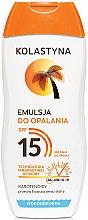 Parfüm, Parfüméria, kozmetikum Napozó emulzió - Kolastyna Emulsion SPF 15