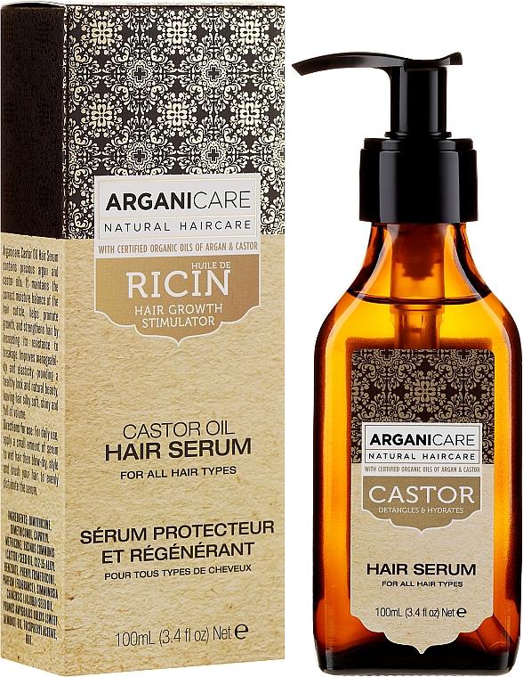 Hajnövesztő szérum - Arganicare Castor Oil Hair Serum