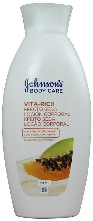 Puhító testápoló papaya kivonattal - Johnson's Body Care Vita-Rich Lotion
