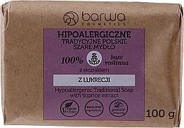 Parfüm, Parfüméria, kozmetikum Hagyományos szürke szappan édesgyökér kivonattal - Barwa Hypoallergenic Traditional Soap With Licorice Extract