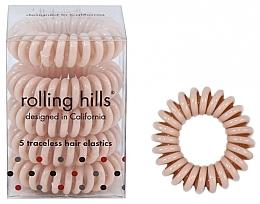 Parfüm, Parfüméria, kozmetikum Spirál hajgumi, bézs - Rolling Hills 5 Traceless Hair Rings Beige