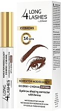 Parfüm, Parfüméria, kozmetikum Henna szemöldökfestő korrektor - Long4Lashes Eyebrow Shaping Corrector with Henna