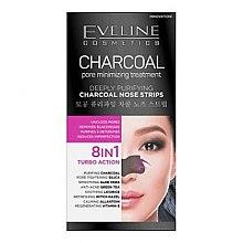 Parfüm, Parfüméria, kozmetikum Mélytisztító orrtapasz - Eveline Cosmetics Charcoal Nose Strips