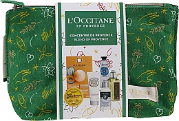 Parfüm, Parfüméria, kozmetikum Szett - L'Occitane Christmas Set (balm/15ml + f/mask/6ml + b/milk/20ml + h/cr/10ml + shm/35ml + sh/gel/30ml + bag)