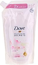 """Parfüm, Parfüméria, kozmetikum Folyékony szappan """"Lótuszvirág"""" - Dove Nourishing Secrets Glowing Ritual Hand Wash (utántöltő)"""