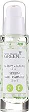 Parfüm, Parfüméria, kozmetikum 3: 1 szérum-gél arcra, nyakra és dekoltázsra petrezselyemmel - Floslek Green For Skin Serum