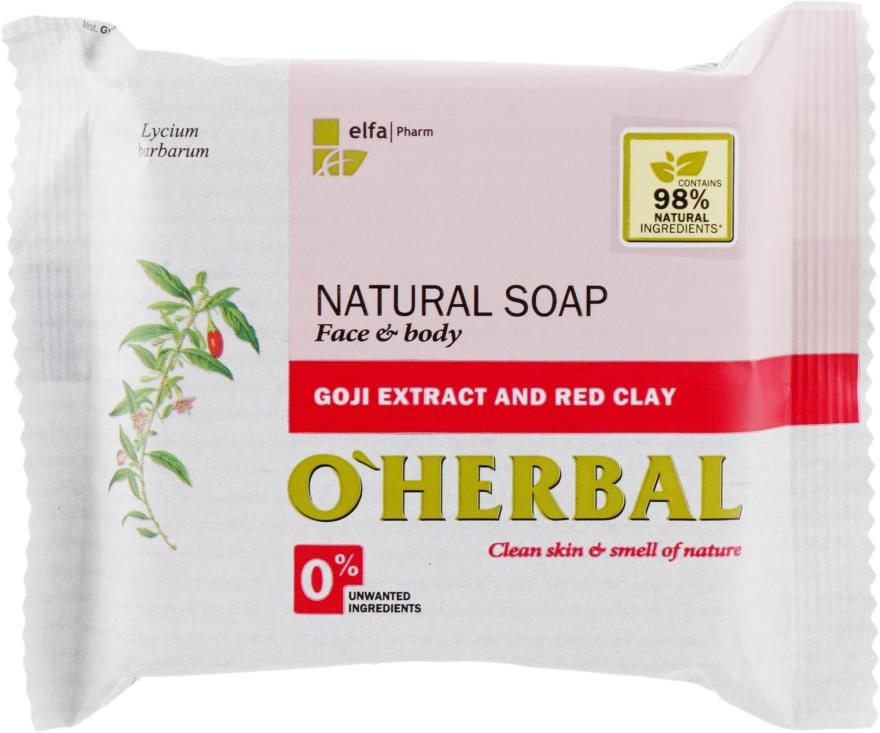 Természetes szappan goji kivonattal és vörös agyaggal - O'Herbal Natural Soap
