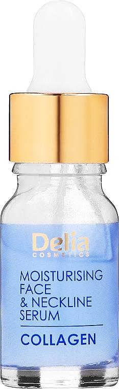 Ránctalanító szérum arcra és nyakra, intenzív hidratáló terápia - Delia Collagen Intensive Anti-Wrinkle and Moisturising Treatment Serum