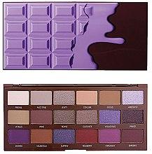 Parfüm, Parfüméria, kozmetikum Szemhéjfesték paletta, 18 árnyalat - I Heart Revolution Eyeshadow Palette Violet Chocolate