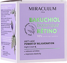 Parfüm, Parfüméria, kozmetikum Éjszakai arckrém - Miraculum Bakuchiol Botanique Retino Anti-Age Cream