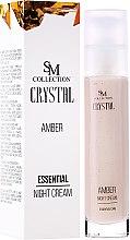 Parfüm, Parfüméria, kozmetikum Természetes borostyán éjszakai krém - SM Collection Crystal Amber Night Cream