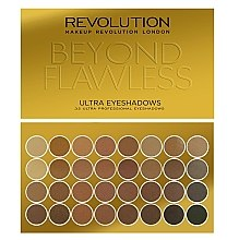 Parfüm, Parfüméria, kozmetikum Szemhéjfesték paletta, 32 árnyalat - Makeup Revolution Ultra 32 Shade Palette Beyond Flawless