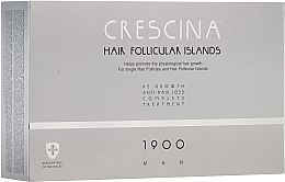 Parfüm, Parfüméria, kozmetikum Hajhullást kezelő komplexum férfiaknak - Crescina Hair Follicular Island Re-Growth + Anti-Hair Loss 1900 Man