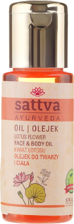 """""""Lótusz virág"""" arc- és testápoló olaj - Sattva Lotus Facial Oil"""