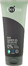Parfüm, Parfüméria, kozmetikum Tusoló gél sampon - Derma Man Body Face & Hair Shower Gel