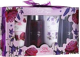 """Parfüm, Parfüméria, kozmetikum Szett """"Vad rózsa és levendula"""" - Spa Moments Spring Flowers With Argan (sh/g/100ml + sh/g/100ml + b/lot/60ml + b/lot/60ml)"""