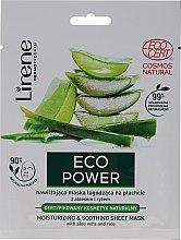 Parfüm, Parfüméria, kozmetikum Hidratáló és nyugtató maszk - Lirene Eco Power Moisturizing and Soothing Sheet Mask
