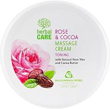 Parfüm, Parfüméria, kozmetikum Masszázskrém tonizáló hatással - Bulgarian Rose Herbal Care Rose & Cococa Massage Cream